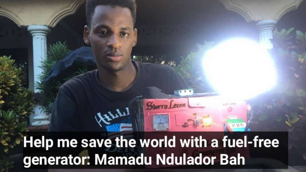 WATCH: 18-year-old Sierra Leonean invented a fuel-free generator.